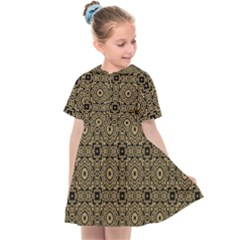 Df Tobacco Field Kids  Sailor Dress by deformigo