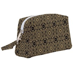 Df Tobacco Field Wristlet Pouch Bag (large) by deformigo