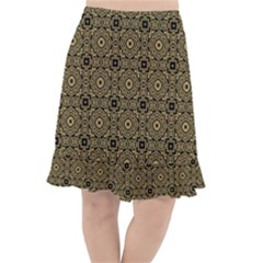 Df Tobacco Field Fishtail Chiffon Skirt by deformigo