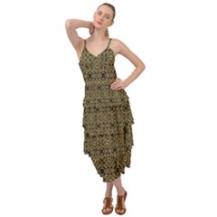 Df Tobacco Field Layered Bottom Dress by deformigo