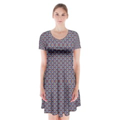 Df Jamu Short Sleeve V-neck Flare Dress by deformigo