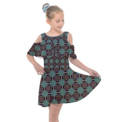 Df Catania Kids  Shoulder Cutout Chiffon Dress by deformigo