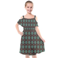 Df Catania Kids  Cut Out Shoulders Chiffon Dress by deformigo