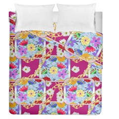 Flowers Trapped In Chains Duvet Cover Double Side (queen Size) by fabqa