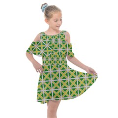 Df Matyas Kids  Shoulder Cutout Chiffon Dress by deformigo