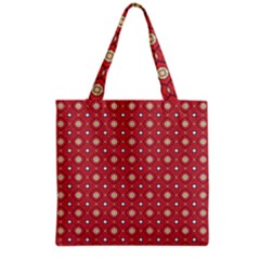 Df Rafflesia Grocery Tote Bag by deformigo