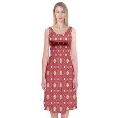 Df Rafflesia Midi Sleeveless Dress by deformigo