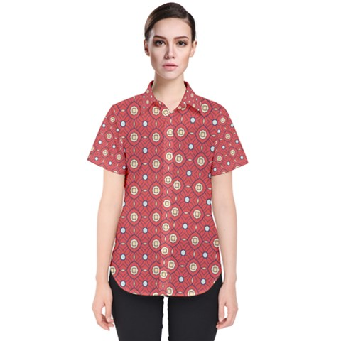 Df Rafflesia Women s Short Sleeve Shirt by deformigo