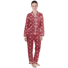 Df Rafflesia Satin Long Sleeve Pyjamas Set by deformigo