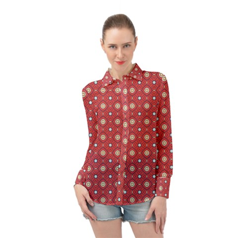 Df Rafflesia Long Sleeve Chiffon Shirt by deformigo