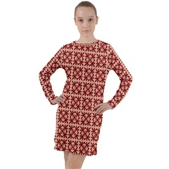 Df Pietri Long Sleeve Hoodie Dress by deformigo