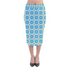 Df Iguassia Velvet Midi Pencil Skirt by deformigo