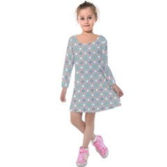 Df Mezzaniche Kids  Long Sleeve Velvet Dress by deformigo
