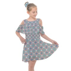 Df Mezzaniche Kids  Shoulder Cutout Chiffon Dress by deformigo