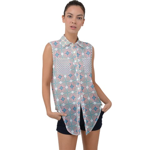 Df Mezzaniche Sleeveless Chiffon Button Shirt by deformigo