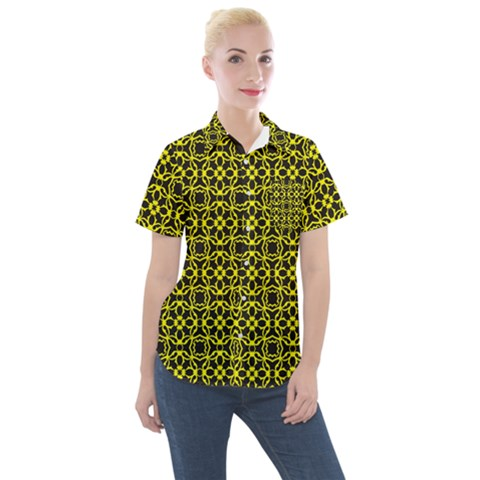 Df Manzanilla Women s Short Sleeve Pocket Shirt by deformigo