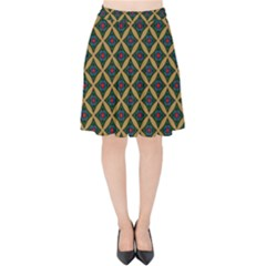 Df Joshimath Velvet High Waist Skirt by deformigo