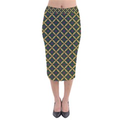 Df Joshimath Velvet Midi Pencil Skirt by deformigo