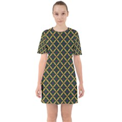Df Joshimath Sixties Short Sleeve Mini Dress by deformigo