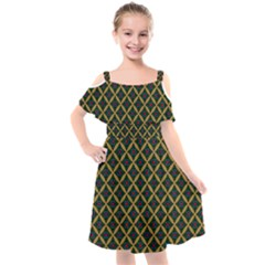 Df Joshimath Kids  Cut Out Shoulders Chiffon Dress by deformigo