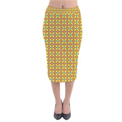 Df Madridejo Velvet Midi Pencil Skirt by deformigo