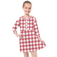 Df Crux Rubya Kids  Quarter Sleeve Shirt Dress by deformigo