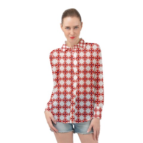 Df Crux Rubya Long Sleeve Chiffon Shirt by deformigo