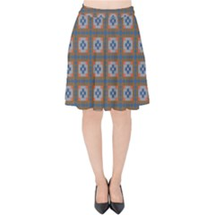 Df Merrival Velvet High Waist Skirt by deformigo