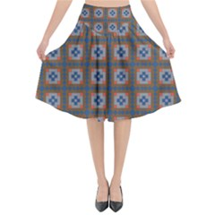 Df Merrival Flared Midi Skirt by deformigo