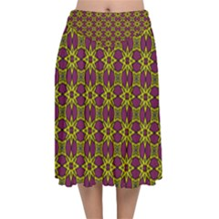 Df Semaris Velvet Flared Midi Skirt by deformigo
