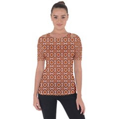 Df Jaitana Shoulder Cut Out Short Sleeve Top by deformigo