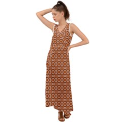 Df Jaitana V-neck Chiffon Maxi Dress by deformigo