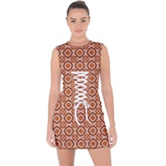 Df Jaitana Lace Up Front Bodycon Dress by deformigo