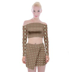 Df Areopag Off Shoulder Top With Mini Skirt Set by deformigo