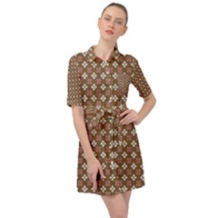 Df Areopag Belted Shirt Dress by deformigo