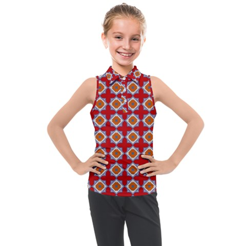 Df Polymorfia Kids  Sleeveless Polo Tee by deformigo