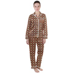Df Asansor Satin Long Sleeve Pyjamas Set