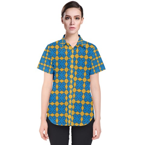 Df Jaisalmer Women s Short Sleeve Shirt by deformigo
