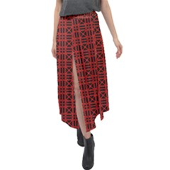 Df Joe Paganetti Velour Split Maxi Skirt by deformigo