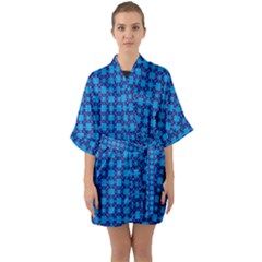 Df Loren Willards Half Sleeve Satin Kimono  by deformigo