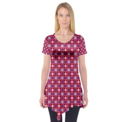 Df Magenta Rumor Short Sleeve Tunic