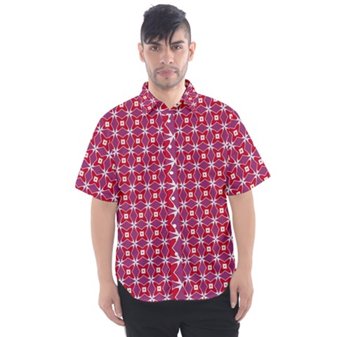 Df Magenta Rumor Men s Short Sleeve Shirt by deformigo