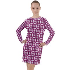 Df Crociere Long Sleeve Hoodie Dress by deformigo