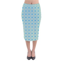 Df Shinna Dipti Velvet Midi Pencil Skirt by deformigo
