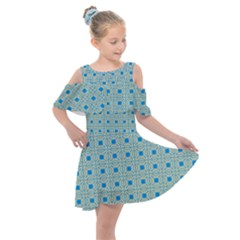 Df Shinna Dipti Kids  Shoulder Cutout Chiffon Dress by deformigo