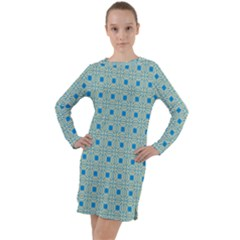 Df Shinna Dipti Long Sleeve Hoodie Dress by deformigo
