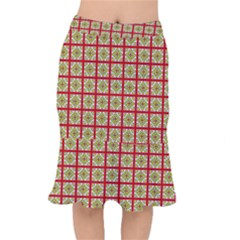 Df Hackberry Grid Short Mermaid Skirt by deformigo