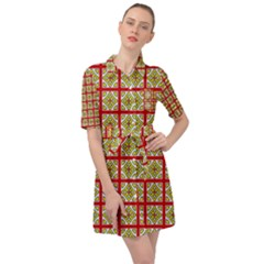 Df Hackberry Grid Belted Shirt Dress by deformigo