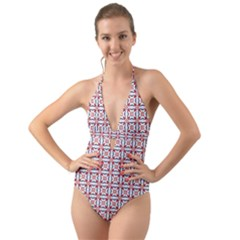 Df Wishing Well Halter Cut Out One Piece Swimsuit by deformigo