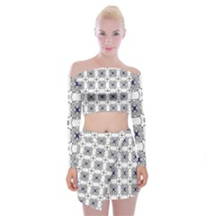 Df Snowland Off Shoulder Top With Mini Skirt Set by deformigo